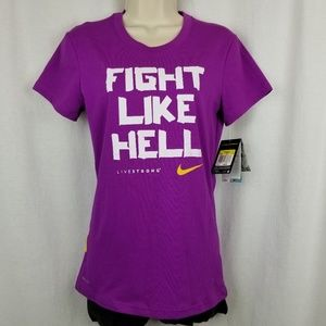 Nike live strong womens workout tee shirt size S